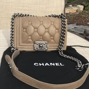 RARE Limited Edition Chanel Calfskin Small Boy Bag